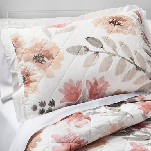 Watercolor Floral Quilt (King) - Threshold™ : Target : target bedding quilts - Adamdwight.com