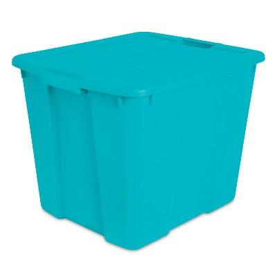 Sterilite® Latching Storage Bin Blue 20gal