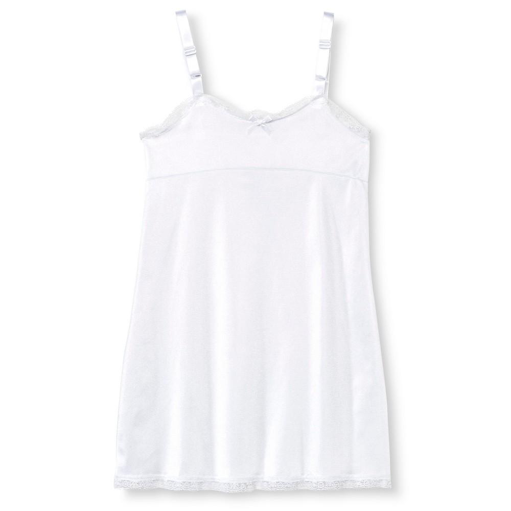 Girls Empire Waist Full Slip - White 4