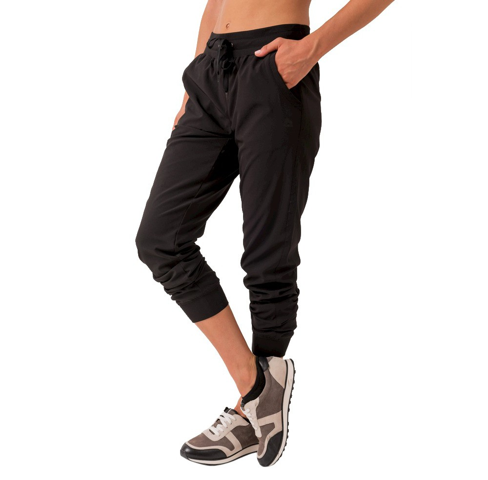 Women's Lined Stretch Woven Pants Black L - Rbx