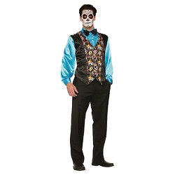 Adult Day Of the Dead Costume Vest - One Size Fits Most