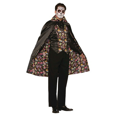 Adult Day Of the Dead Costume Cape - image 1 of 1