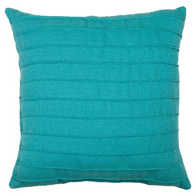 Outdoor Pillow - Turquoise Pleated - Threshold™