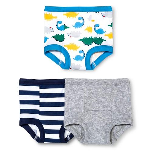 Gerber Toddler Boys' Dinosaur 3-Pack Training Pant - Blue 3T