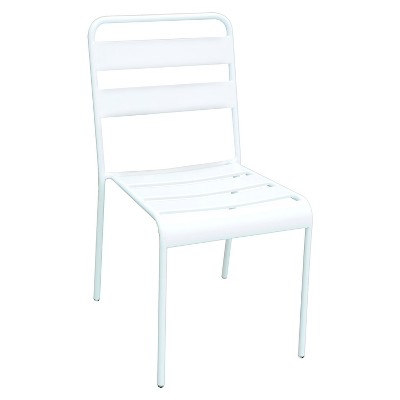 Beautiful Metal Stack Patio Chair White   Room Essentials™