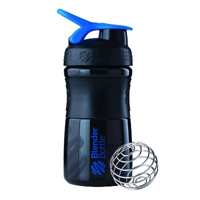 Blender Bottle SportMixer Tritan Grip Bottle Black/Blue - 20oz