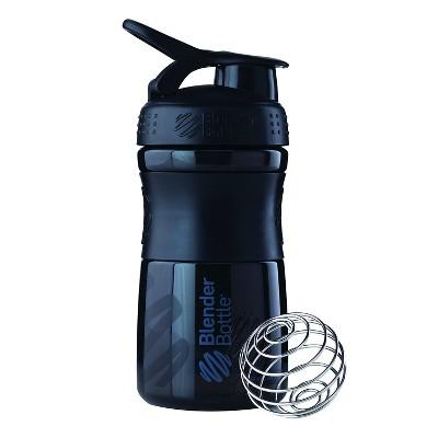 Blender Bottle SportMixer Tritan Grip Bottle Black/Black - 20oz