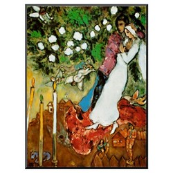 Art.com Three Candles by Marc Chagall - Mounted Print