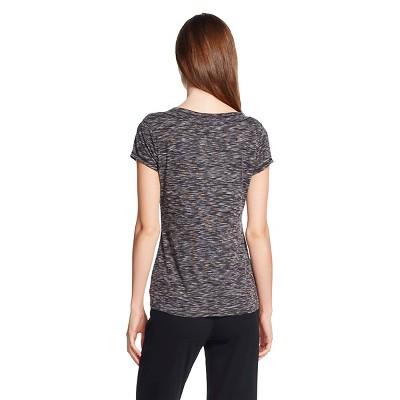 Women's Sleepwear Knit Shorts Sleeve Top Black XS, Heather Black
