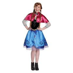 Kids' Disney Frozen Anna Traveling Gown Costume - L (12-14)