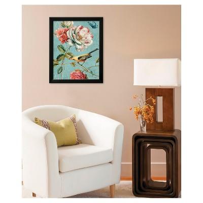 Art.com Spring Romance I by Lisa Audit - Framed Art Print, Black