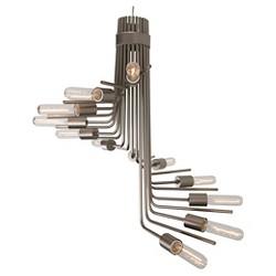 Socket-to-Me 12 Light Chandelier - New Bronze