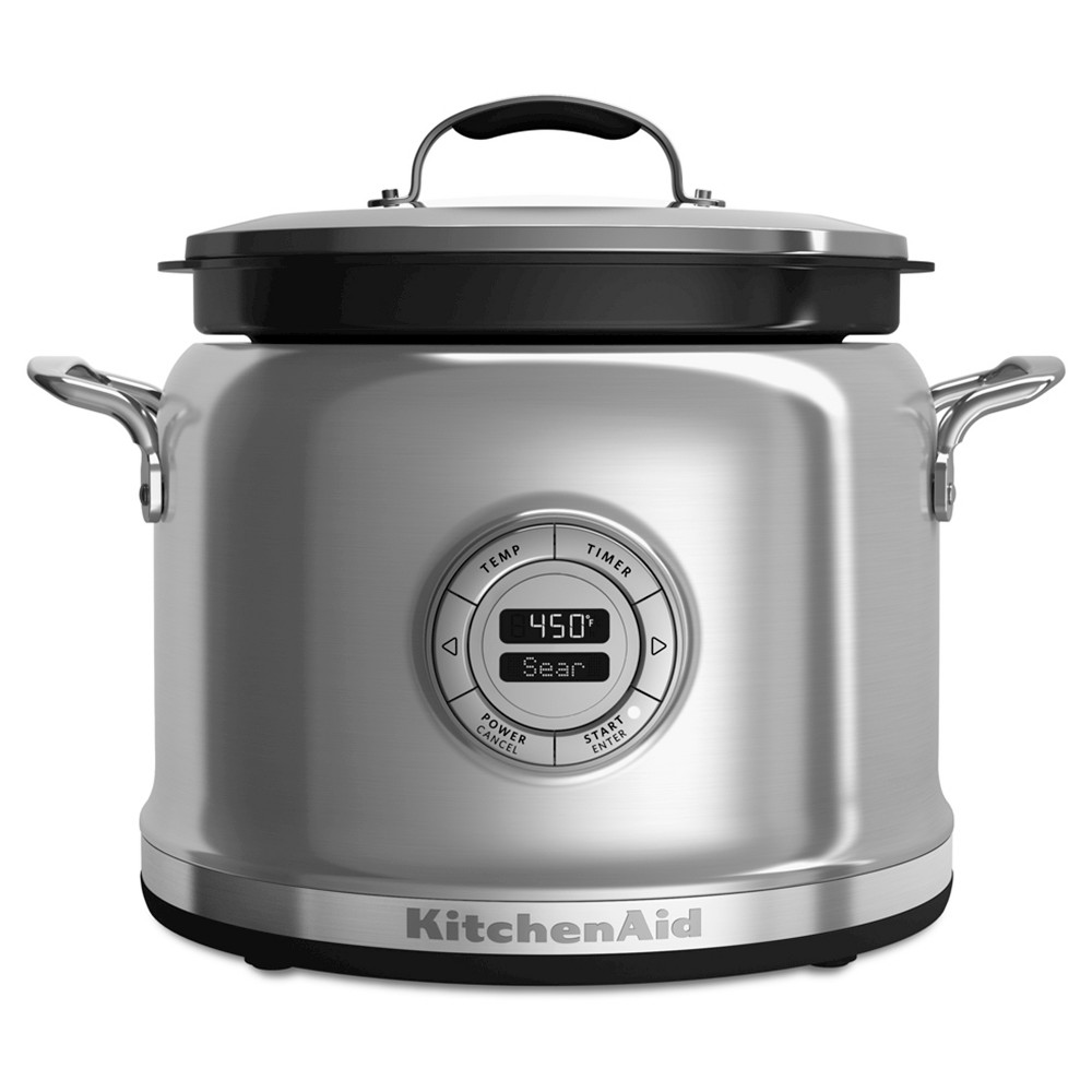 KitchenAid 4 Quart Multi-Cooker - KMC4241, Medium Silver Find Slow Cookers at Target.com! The Multi -Talented Multi -Cooker. The ultimate all -in -one cooking system to simply create everyday dishes, one pot wonders, or gourmet masterpieces. Unlimited opportunities from a multi -functional tool in the kitchen. Consistent results guaranteed, every time. Make great cooking simple. Color: Medium Silver.