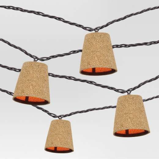 10 count decorative string lights cone cover in cork threshold - Decorative String Lights
