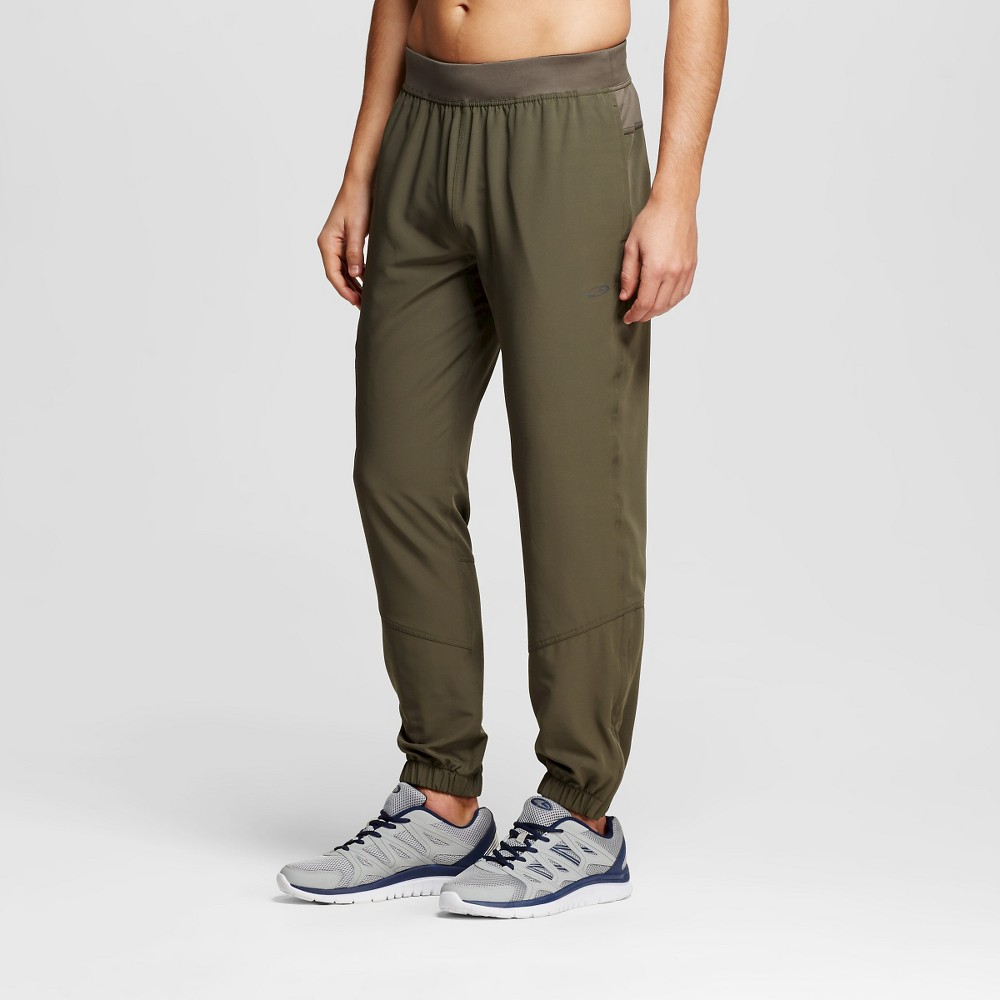 Mens Premium Stretch Woven Pants - C9 Champion Green XL, Camouflage Green
