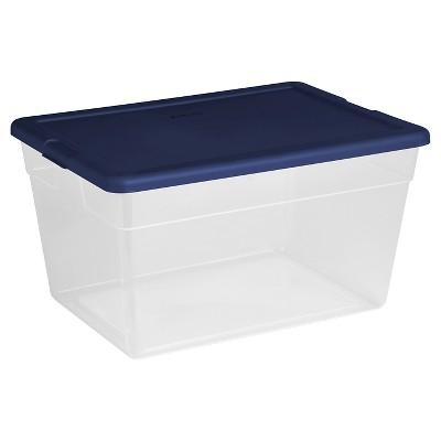 56 Qt Plastic Storage Tubs Blue Cover - Room Essentials™