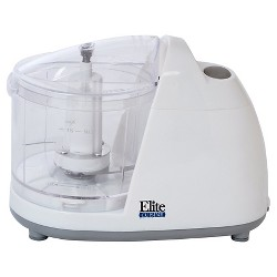 Elite Cuisine 1.5-Cup Mini Food Chopper in White