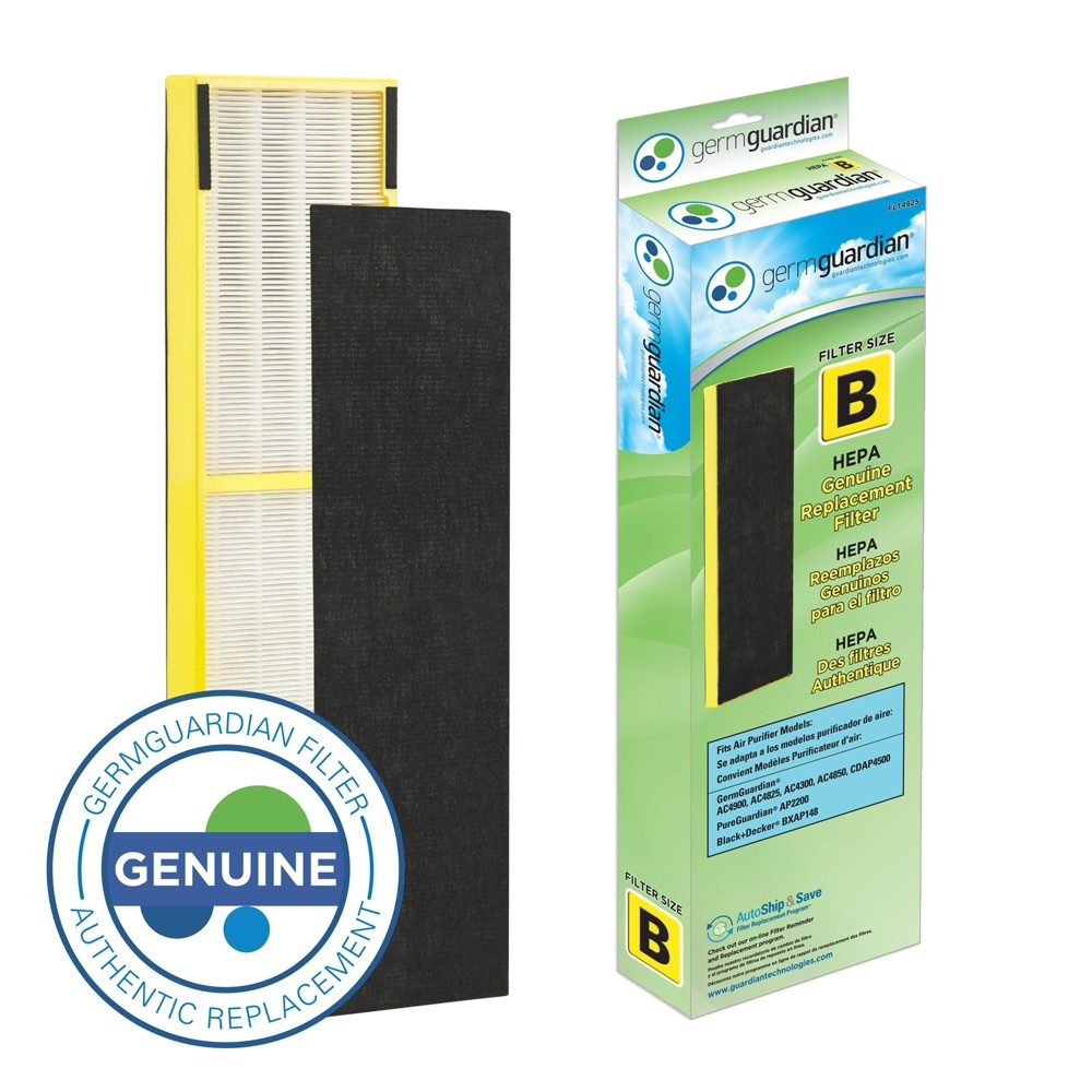 GermGuardian FLT4825 True HEPA Replacement Filter B for AC4800/4900 Series Air Purifiers 1932880