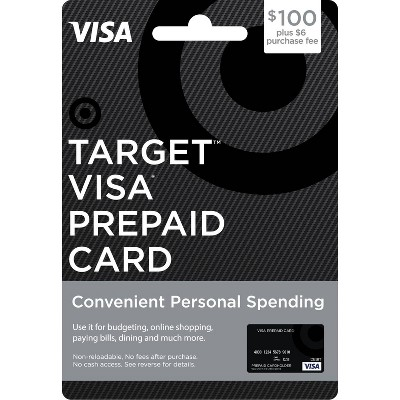 $100 Visa Prepaid Card - $100 + $6 Fee