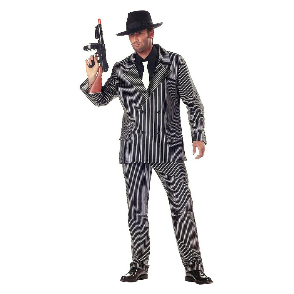 Men's Gangster '20s Adult Costume - Large, Black