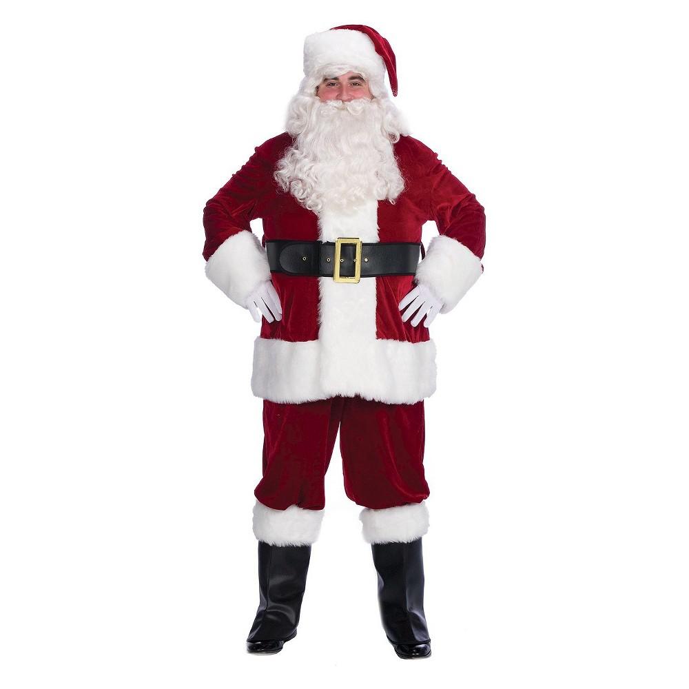 Mens Velvet Complete Santa Costume Large