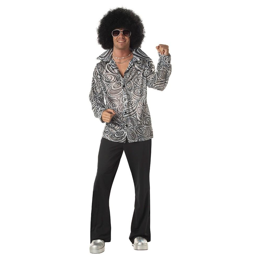 Men's Vintage Style Clothing Mens Groovy Disco Shirt Adult Costume Large $44.99 AT vintagedancer.com