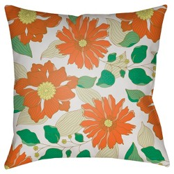 Tangerine Throw Pillow Surya