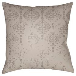 Taupe Brown Throw Pillow Surya