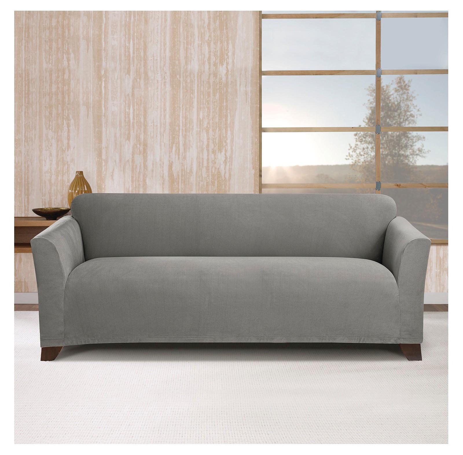 Stretch Maya Sofa Slipcover Gray Sure Fit