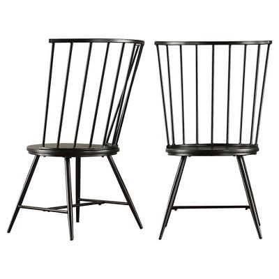 Norfolk High Windsor Dining Chair Metal/Black (Set Of 2)   Inspire Q