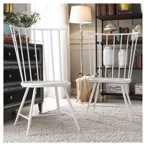 Norfolk High Windsor Dining Chair Metal White Set Of 2