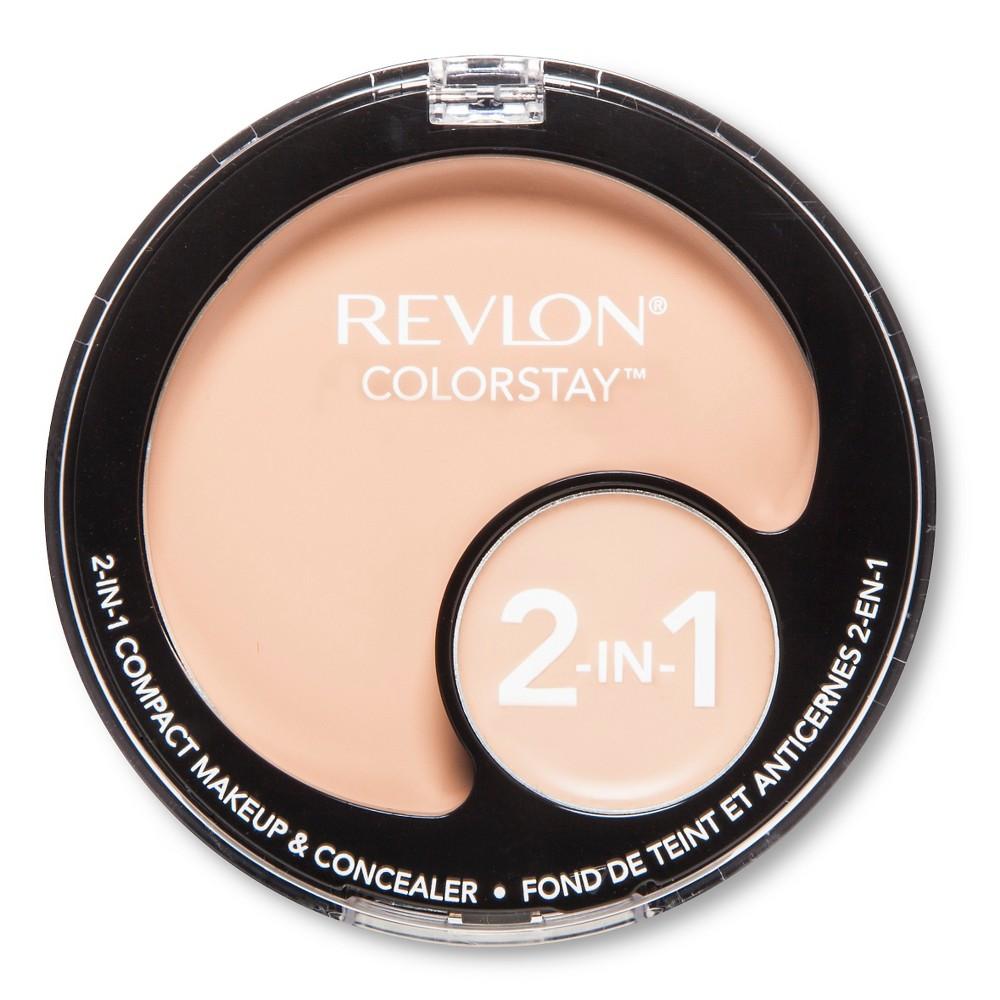 Revlon ColorStay 2-in-1 Compact Makeup + Concealer - 110 Ivory - .4 oz