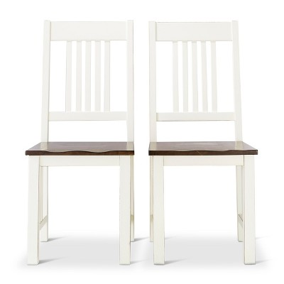Davern Cottage Dining Chair   Off White (Set Of 2)