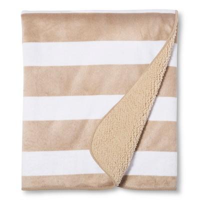 Valboa Baby Blanket - Khaki Stripe - Circo™