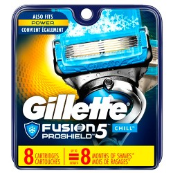 Gillette Fusion5 ProShield Chill Men's Razor Blade Refills - 8ct