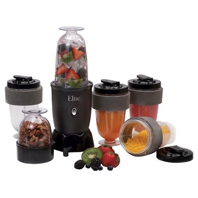 Elite Cuisine 17-Piece Personal Drink Blender - Black