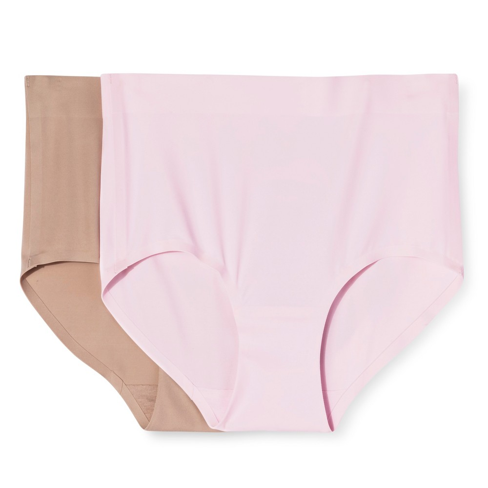 Simply Perfect by Warners Womens Control Briefs 2 Pack - Soft Pink S, Nude/Soft Pink