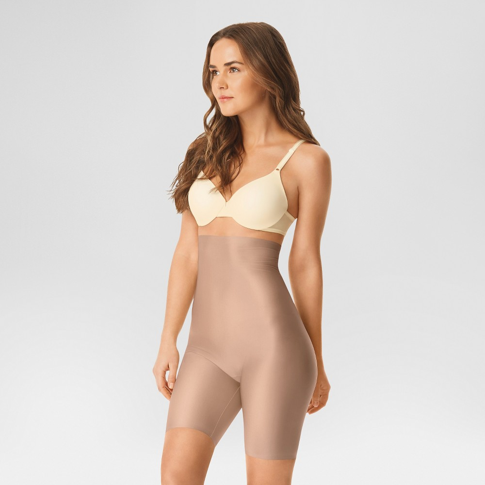 Simply Perfect by Warners High Waist Thigh Slimmer - Toasted Almond S, Womens