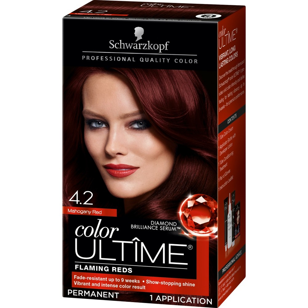 Schwarzkopf Color Ultime Flaming Reds Hair Color 4.2 Maho...