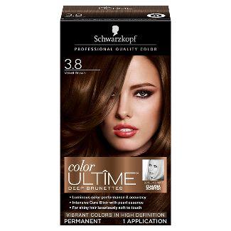 Schwarzkopf Color Ultime Deep Brunettes Hair Color 3.8 Velvet Brown - 2.03 fl oz