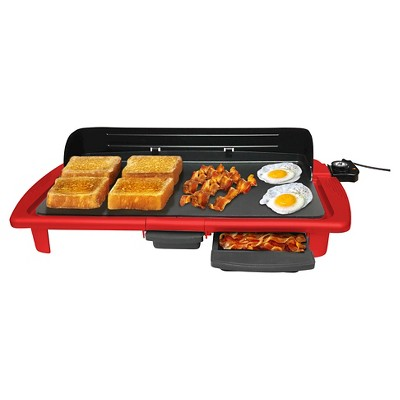 Elite Gourmet Electric Indoor Griddle - Red
