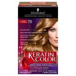 Schwarzkopf Keratin Color Anti Age Hair 7 5 Caramel Blonde 2 03 Fl Oz