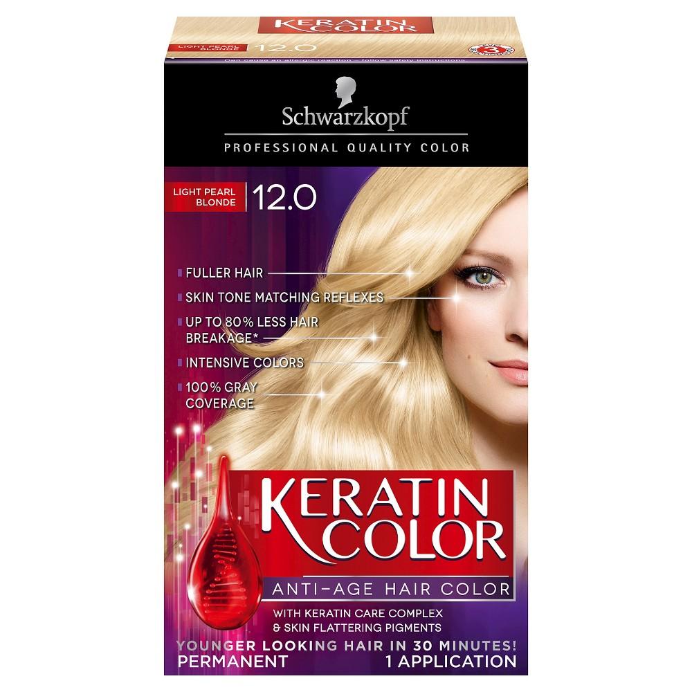 Schwarzkopf Keratin Color Anti-Age Hair Color 12.0 Light Pearl Blonde - 2.03 fl oz