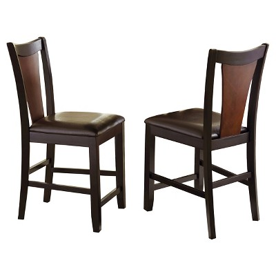 Kieren Counter Height Dining Chairs Wood/Brown (Set Of 2)   Steve Silver
