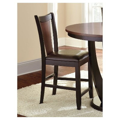 kieren counter height dining chairs woodbrown set of 2 steve silver company - Steve Silver Furniture