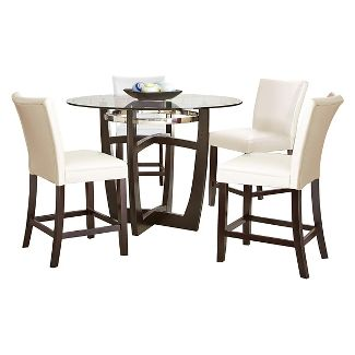 5 piece margo counter height dining table set woodwhite steve silver company - Counter Height Kitchen Table