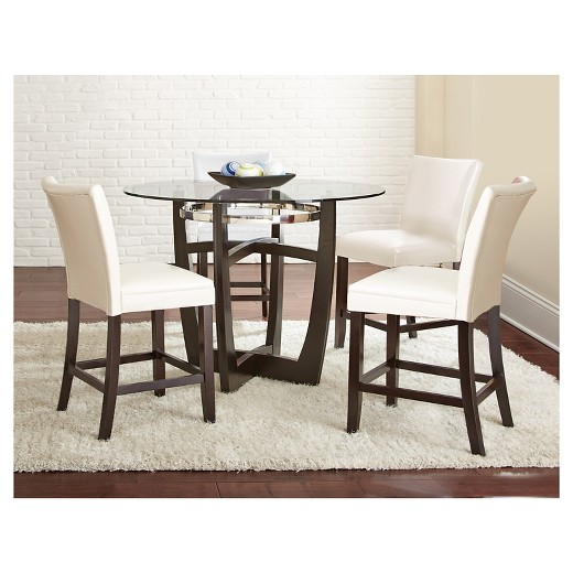 5 Piece Margo Counter Height Dining Table Set Wood/White - Steve ...