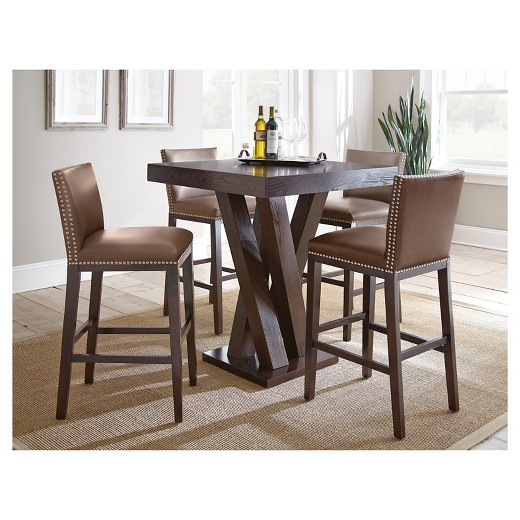 5 Piece Whitney Bar Height Dining Table Set Wood Chocolate   Steve Silver  Company. 5 Piece Whitney Bar Height Dining Table Set Wood Chocolate   Steve