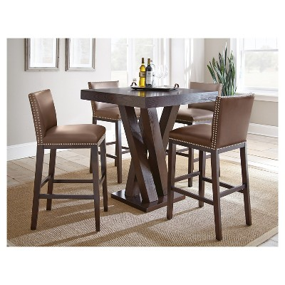 Wonderful 5 Piece Whitney Bar Height Dining Table Set Wood/Chocolate   Steve Silver  Company : Target