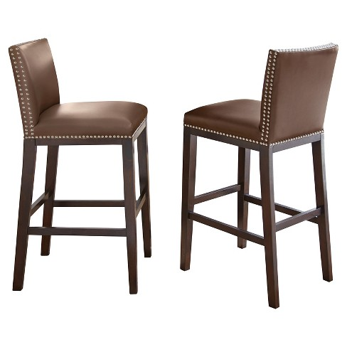 Whitney Bar Chairs Wood/Brown (Set of 2) - Steve Silver Company - image 1 of 1